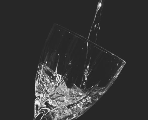 Time-lapse Clear Wine Glass With Water from Dreamstime.com